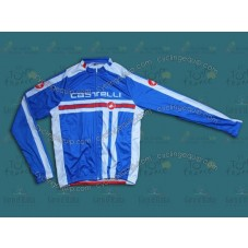 2014 Castelli Free Style Light Blue Cycling Long Sleeve Jersey