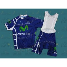 Movistar 2011 Cycling Jersey And Bib Shorts Set