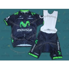 2014 Team Movistar TDF  Cycling Jersey And Bib Shorts Set