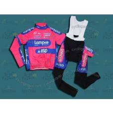 2012 Lampre ISD Thermal Cycling Long Sleeve Jersey And Bib Pants Set