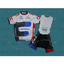 2012 Team CSC Orbea Cycling Jersey And Bib Shorts Set