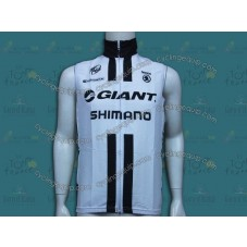 2014 Team Giant Shimano White Cycling Wind Vest
