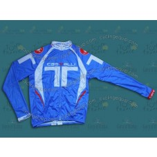 2014 Castelli Light Blue T Style Cycling Long Sleeve Jersey