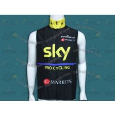 2013 Sky Black And Yellow Cycling Wind Vest