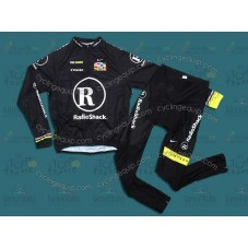 RadioShack Black R28 Cycling Long Sleeve Jersey And Pants Set