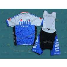 2014 Italy Skoda  Cycling Jersey And Bib Shorts Set