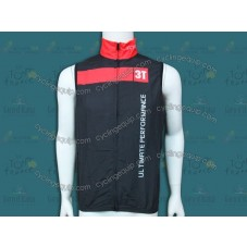 2014 Team 3T Black Cycling Wind Vest