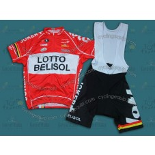 2014 Team Lotto  Cycling Jersey And Bib Shorts Set