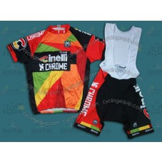 2014 Team Cinelli Chrome  Cycling Jersey And Bib Shorts Set