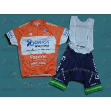 2014 Team Orica Orange  Cycling Jersey And Bib Shorts Set