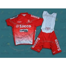 2014 Team Saeco Red  Cycling Jersey And Bib Shorts Set