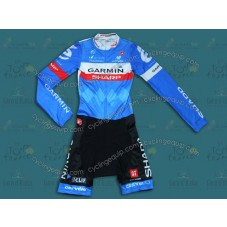 2014 Team Garmin Long Sleeve Cycling Skinsuit Time Trail Skin Suits