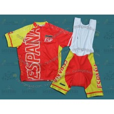 2012 Olympics Spain Team ESP Cycling Jersey And Bib Shorts Set