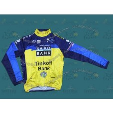 2013 Saxo Bank Tinkoff Thermal Long Cycling Long Sleeve Jersey