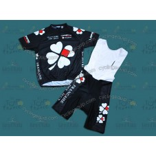 Francaise des Jeux Black Cycling Jersey And Bib Shorts Set
