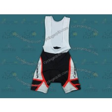 2012 Orbea White And Red Cycling Bib Shorts