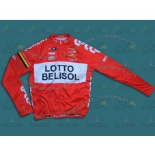 2014 Team Lotto - Belisol Red Cycling Long Sleeve Jersey
