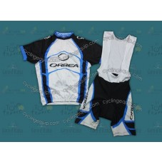 2012 Orbea White And Blue Cycling Jersey And Bib Shorts Set