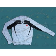 2014 Castelli Black And White Cycling Long Sleeve Jersey