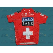 Saxo Bank Red Swiss Cycling Jersey