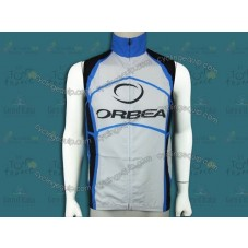 2012 Orbea White And Blue Cycling Wind Vest