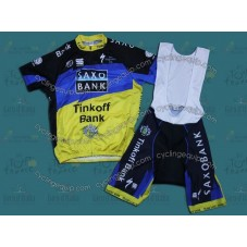 2012 Tour de France Saxo Bank Cycling Jersey And Bib Shorts Set