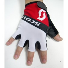 2015 Scott Team Black-White-Red - Cycling Gloves
