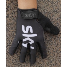 2014 Team Sky Black Edition - Thermal long Cycling Gloves