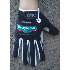 2014 Europcar Black - Thermal long Cycling Gloves
