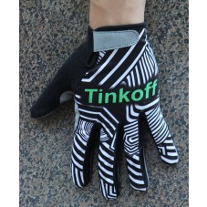 2016 Tinkoff Training Black/Green Thermal Cycling Gloves