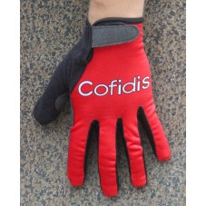 2016 Cofidis Red Thermal Cycling Gloves
