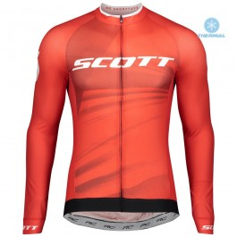 2020 Scott RC Pro Red Thermal Long Sleeve Cycling Jersey