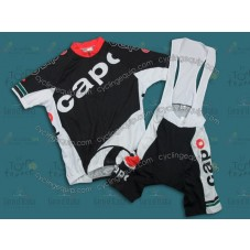 2011 CAPO Black Cycling Jersey And Bib Shorts Set