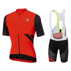 2017 Sportful R&D Ultraskin Red Cycling Jersey And Bib Shorts Set