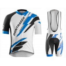 2016 Bontrager Specter Blue-White Cycling Jersey And Bib Shorts Set