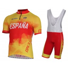 2017 Spanish Country Team Cycling Jersey And Bib Shorts Kit