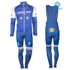 2017 Quick-Step Floors Thermal Cycling Jersey And Bib Pants Kit