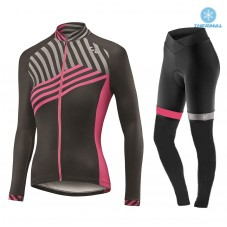 2017 Liv Accelerate Women's Black-Pink Thermal Cycling Jersey And Pants Kit