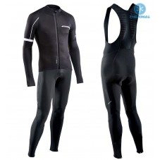 2017 Northwave Blade NW Black Thermal Cycling Jersey And Bib Pants Kit