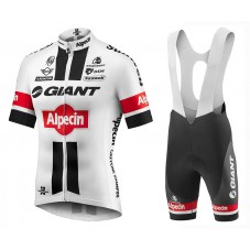 2016 Giant Alpecin TDF Edition White Cycling Jersey And Bib Shorts Set
