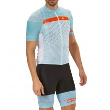 2018 Craft Route Blue Cycling Jersey And Bib Shorts Kit