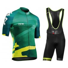 2018 Northwave Blade 3 Green Cycling Jersey And Bib Shorts Kit
