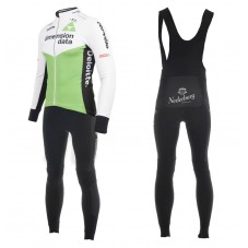 2018 Dimension Data White Long Sleeve Cycling Jersey And Bib Pants Kit