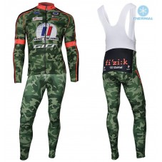 2018 Armee De Terre Camouflage Thermal Cycling Jersey And Bib Pants Kit
