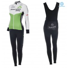 2018 Dimension Data Women Thermal Cycling Jersey And Bib Pants Kit