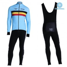 2019 Belgium Country Team Thermal Cycling Jersey And Bib Pants Kit