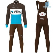 2019 AG2R Thermal Cycling Jersey And Bib Pants Kit