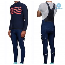 2019 MAAP M-Flag Ultra Blue-Red Thermal Cycling Jersey And Bib Pants Kit