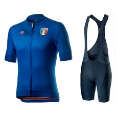 2020 Italian Country Blue Cycling Jersey And Bib Shorts Kit