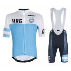 2020 Argentina Country Team Cycling Jersey And Bib Shorts Kit